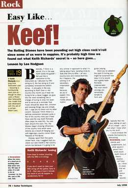 Lee Hodgson - Keith Richards Guitar Style