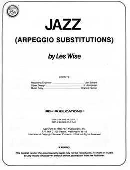Les Wise - Jazz Arpeggio Substitutions