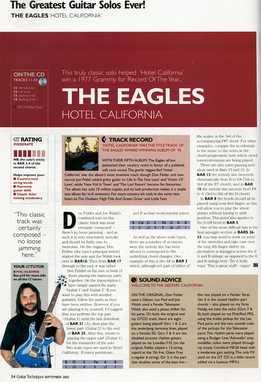 Phil Hilborne - The Eagles - Hotel California Solo