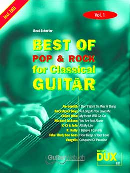 Best Of Pop & Rock - For Classical Guitar Vol. 1, 2, 6, 4, 6, 9