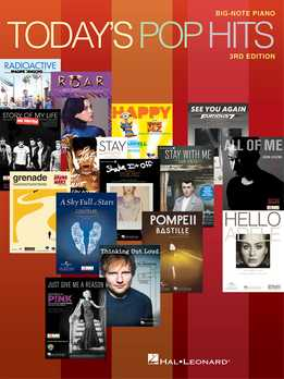 Today's Pop Hits - For Big-Note Piano
