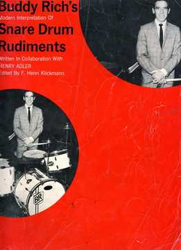 Buddy Rich, Henri Adler - Buddy Rich's Snare Drum Rudiments