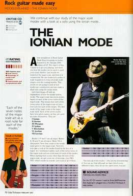 Jamie Hamphries – Rock Guitar Made Easy – Lesson 15 – Ionian Mode