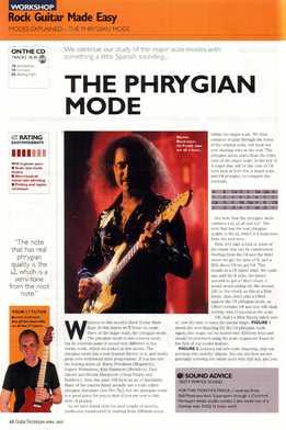 Jamie Hamphries – Rock Guitar Made Easy – Lesson 17 – Phrygian Mode