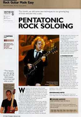 Jamie Hamphries - Rock Guitar Made Easy - Lesson 3 - Pentatonic Rock Soloing