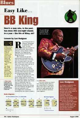Lee Hodgson - B.B. King Guitar Style