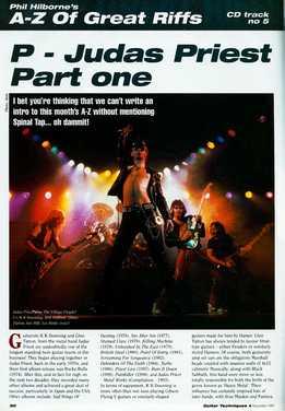 Phil Hilborne - A-Z Of Great Riffs - Judas Priest. Part 1