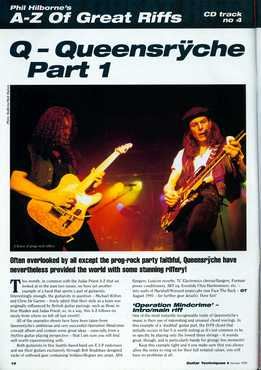 Phil Hilborne - A-Z Of Great Riffs - Queensryche. Part 1