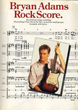 Bryan Adams Rock Score (Full Band Score)