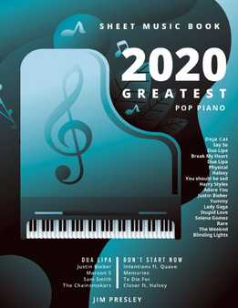 2020 Greatest Pop Piano Sheet Music Books