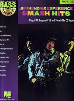 Bass Play-Along Vol. 10 - Jimi Hendrix Experience - Smash Hits