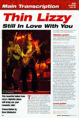 Dave Kilminster - Thin Lizzy - Still In Love With You