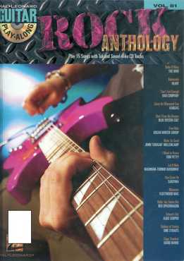 Guitar Play-Along Vol. 81 - Rock Anthology