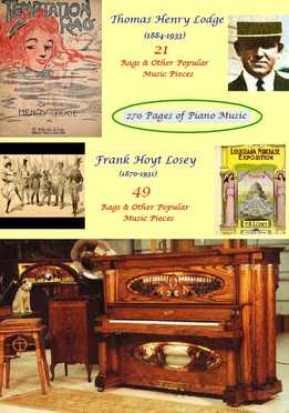 Henry Lodge, Frank Losey - Popular Music For Piano Solo - Rags, Marches, Dances, Cakewalks, Blues, etc
