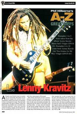 Phil Hilborne - Lenny Kravitz - 10 Riffs