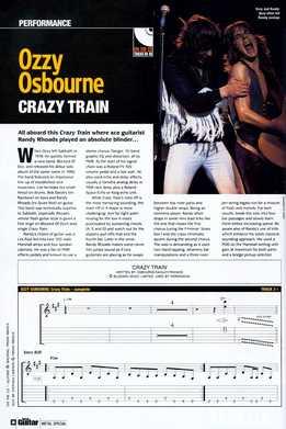 Total Guitar - Ozzy Osbourne - Crazy Train