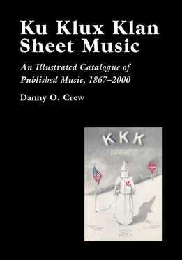 Danny O. Crew - Ku Klux Klan Sheet Music