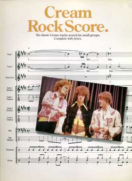 Cream Rock Score (Full Band Score)