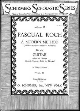 Pascual Roch - School Of Tarrega - A Modern Method For The Guitar Vol. III