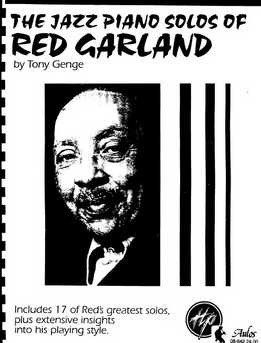 Tony Genge - The Jazz Piano Solos Of Red Garland