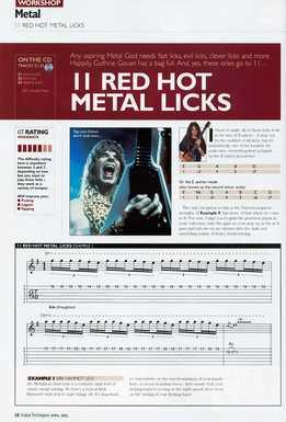 Guthrie Govan - 11 Red Hot Metal Licks
