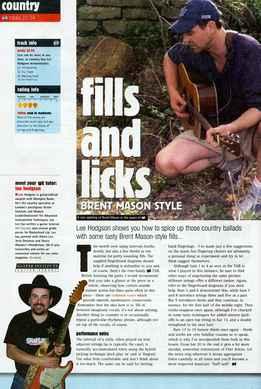 Lee Hodgson - Fills And Licks - Brent Mason Style