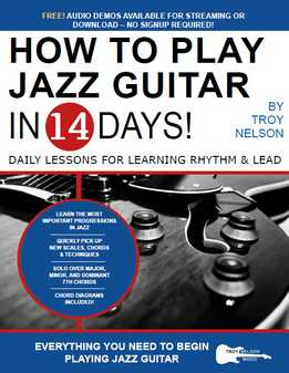 Troy Nelson - How To Play Jazz Guitar In 14 Days - Daily Lessons For Learning Rhythm & Lead
