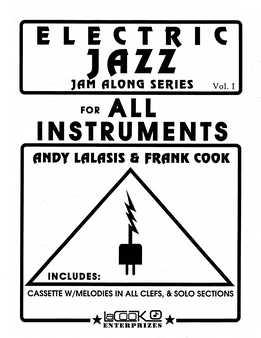 Andy Lalasis & Frank Cook - Electric Jazz Jam Along Series Vol.1