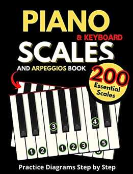 Piano & Keyboard Scales And Arpeggios Book, Practice Diagrams Step By Step