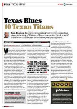 Jon Bishop - Texas Blues - 10 Texan Titans