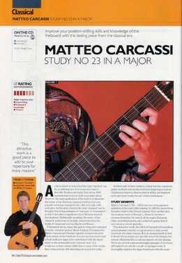 Richard Stokkereit - Matteo Carcassi - Study 23 In A Major